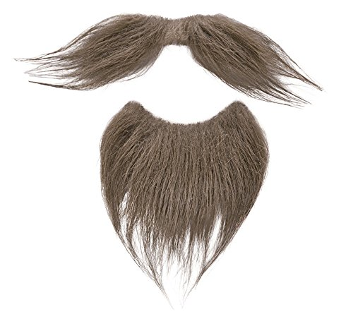 Bristol Novelty Beard Tash Set Brown Moustaches And Beards Men's One Size
