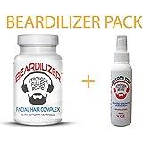 Beardilizer ® Value Pack: Dietary Supplement 90 Caps + Beard Growth Spray 4 Oz