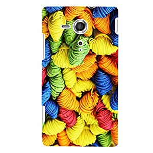 ColourCrust Sony Xperia SP Mobile Phone Back Cover With Colourpul Pattern Style - Durable Matte Finish Hard Plastic Slim Case