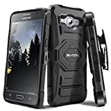 Evocel Galaxy Grand Prime [New Generation] Rugged Holster Dual Layer Case [Kickstand][Belt Swivel Clip] For Galaxy Grand Prime (G530 G530H G530F G530M G530T G530AZ S920C), Black (EVO-SAMG530-XX01)