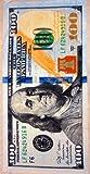 New 100 dollar bill velour brazilian beach towel 30x60 inches