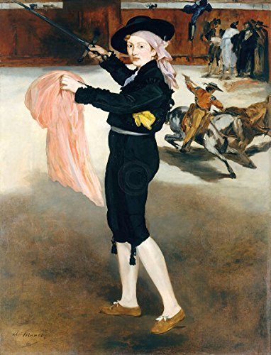 [Mlle Victorine Meurent in the Costume of Espada Edouard Manet Poster (Choose Size, Print or Canvas)] (Mlle Victorine Meurent In The Costume Of An Espada)