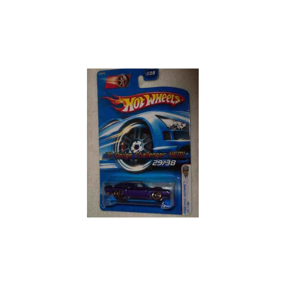 2006 First Editions  #29 1970 Dodge Challenger Hemi Purple FTE Wheels #2006 29 Collectible Collector Car Mattel Hot Wheels 164 Scale