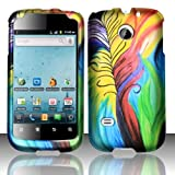 Rubberized Peacock Feathers Design for HUAWEI Huawei Ascend 2 M865