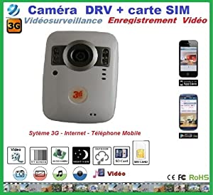 camera surveillance avec carte sim 3g et carte sd sans fil. Black Bedroom Furniture Sets. Home Design Ideas
