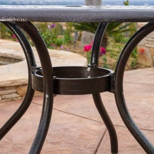 Covington Outdoor 5pcs Cast Aluminum Dining Set 3