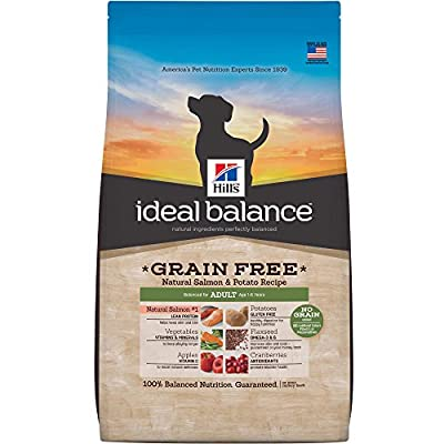 Hill's Ideal Balance Grain-Free Natural Salmon & Potato Recipe Adult Dry Dog Food, 21-Pound