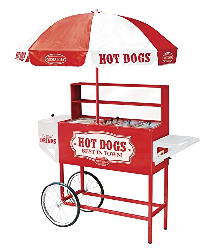Nostalgia HDC701 48-Inch Tall Vintage Collection Hot Dog Vending Cart with Umbrella (Hot Dog Carnival compare prices)