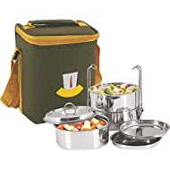 Nano 9 Insulated 3pc Clip Tiffin Box SS048