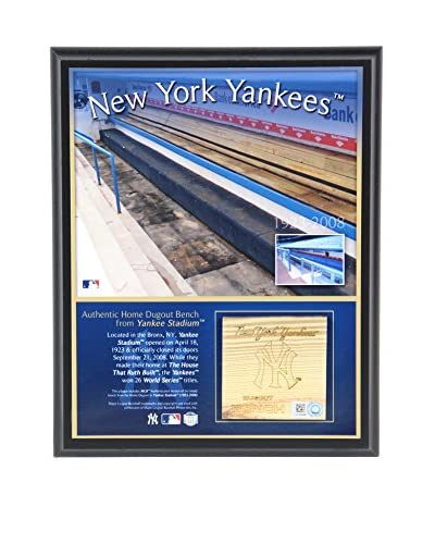 Steiner Sports Memorabilia New York Yankees Bench Plaque, 10 x 8