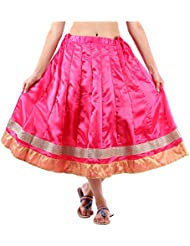Sunshine Enterprises Women's Satin Wrap Skirt (Pink) - B01HELPNAO