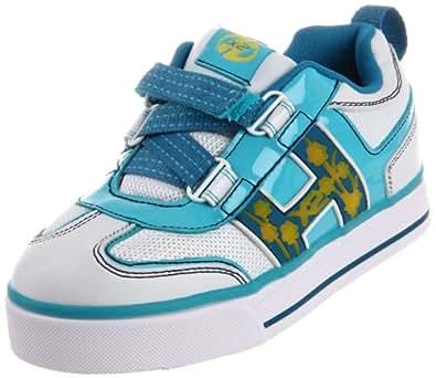 Heelys HX2 Blossom Lighted Skate Shoe (Little Kid/Big Kid),White/Blue/Yellow,12 M US Little Kid