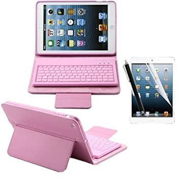 YW (TM) Protective PU Leather Case with Removable Bluetooth Keyboard Stand Cover +Screen Protector +Random Color Stylus for Apple i at Sears.com