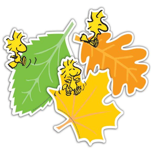 """Eureka Peanuts Fall Leaves Paper 5"""" Tall Cut Out, Set Of 36 front-723001"""