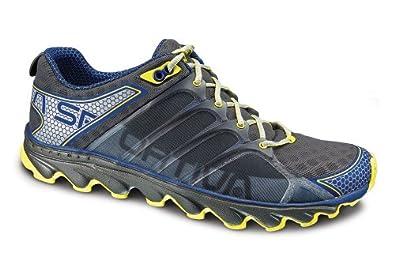 La Sportiva Helios Mountain Running Shoe - Men's Blue/Mid Grey 38