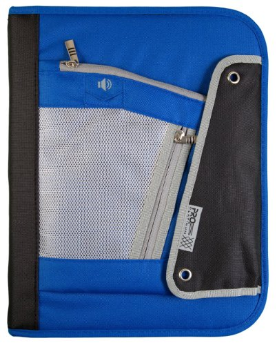 Mead Pro Platinum 1.5-Inch Zipper Binder: D-Ring, Blue