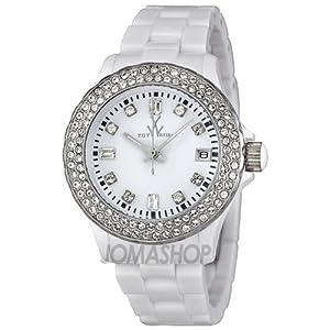Toy Watch Plasteramic White Crystal Women's watch #PCS22WH