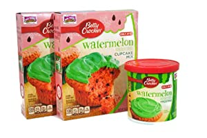 Amazon.com : Betty Crocker Watermelon Cupcake Mix and ...