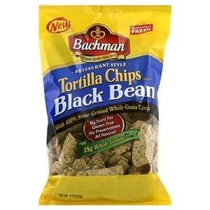 Black tortilla chips