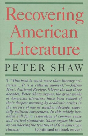 Recovering American Literature, PETER SHAW