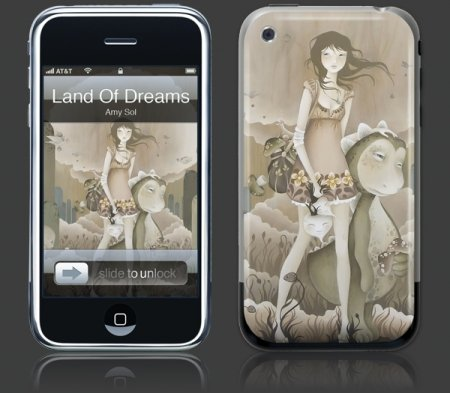 Apple iPhone Premium Vinyl Skin - Land Of Dreams (GelaSkins Brand) Made in Canada