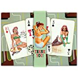 Dolce Mia Pin-up Playing Cards Thank You Card - Pack of 10