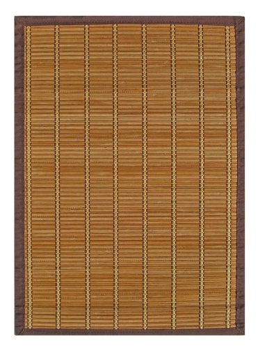 Anji Mountain Bamboo Chairmat & Rug Co. 2-Foot-by-3-Foot Bamboo Rug, Pearl River