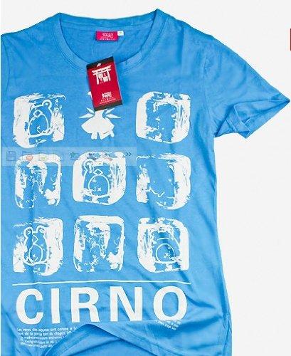 高品質コスプレ衣装 東方project  チルノ 風 Tシャツ1点 Lサイズ  コスチューム、コスプレ