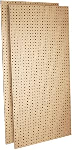 Triton Products TPB-2 Two Tempered Round Hole Pegboards 24-Inch W by 48-Inch H by 1/4-Inch D Heavy Duty Commercial Grade