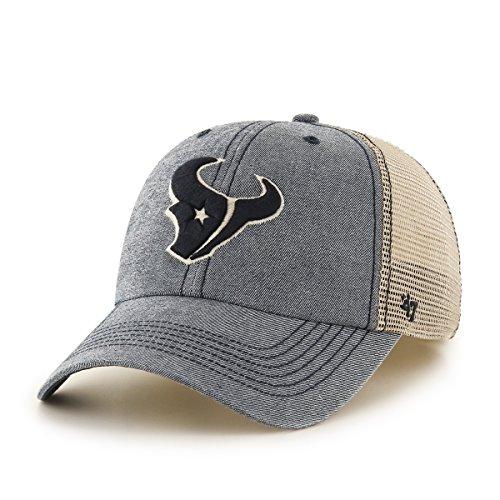 Men's Houston Texans '47 Brand Navy Fairfax Cuffed Knit Hat with Pom