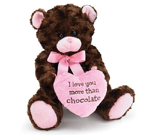 I Love You More Than Chocolate Valentine's Day Heart Teddy Bear 10