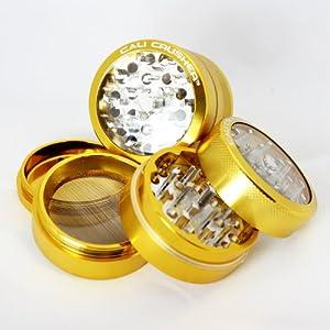 Cali Crusher® Gold CLEAR TOP 4 Piece Herb Grinder (CC-1-Gold) by Cali Crusher�