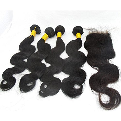 Lanova-Beauty-Womens-Natural-Color-Peruvian-Body-Wave-Weft-Virgin-Remy-Hair-Extensions
