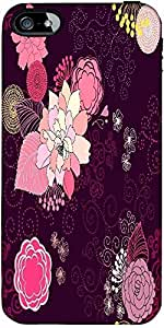 Snoogg Vector Flower Seamless Pattern Designer Protective Back Case Cover For...