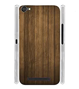 Wooden Lines Soft Silicon Rubberized Back Case Cover for LYF Flame 1