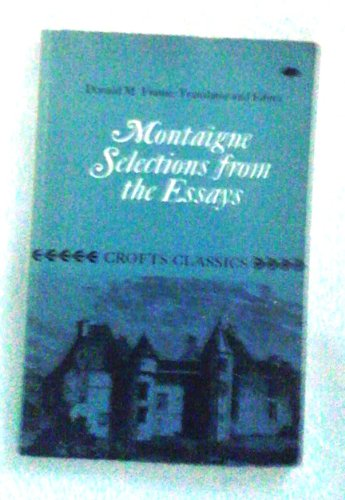 classics crofts essay from montaigne selection