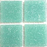 Hobby Island Mosaics Vitreous Glass Mosaic Tiles 20mm - Caribbean Blue - Full Sheet