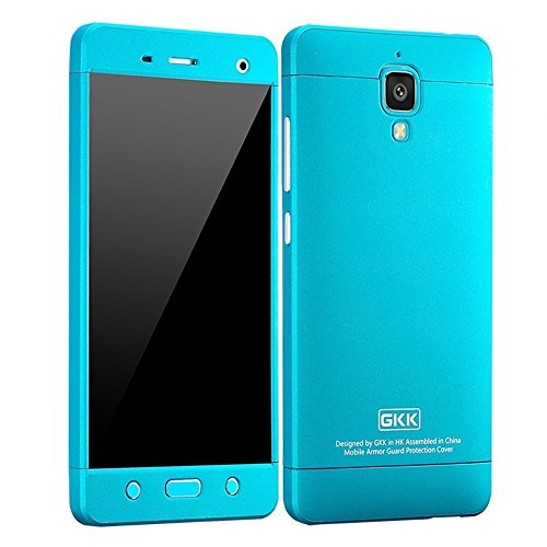 Heartly GKK Double Dip Flip Hard Shell Premium Bumper Back Case Cover For Xiaomi Miui Mi 4 Mi4 - Blue Blue Blue