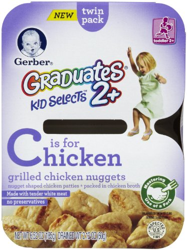 Gerber Graduates Kid Selects 2+ Grilled Chicken Nuggets, 6.52 Oz (Pack Of 8) front-258284