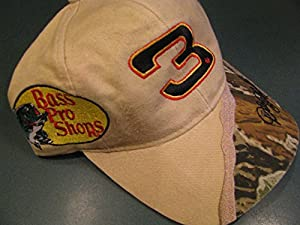 Vintage Bass Pro Shops Dale Earnhardt Sr #3 Partial Tan & Real Tree Realtree... by Chase Authentics