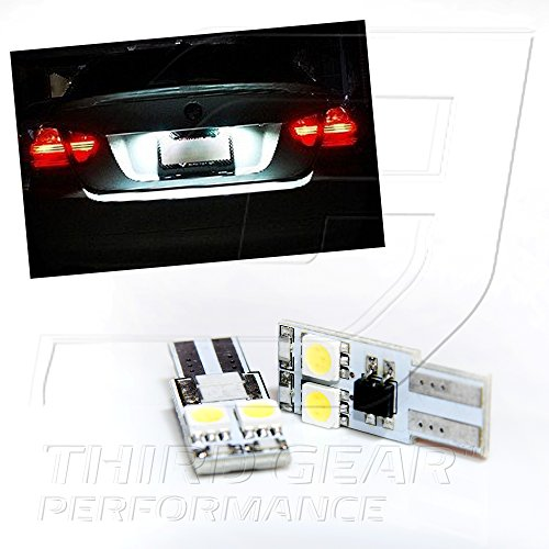 Tgp T10 White 4 Led Smd 5050 Side Wedge License Plate Light Bulbs Canbus Error Free 2007-2011 Mercedes Benz S400 S550 S600 S65 Amg