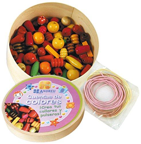 Andreu Toys - Cuentas de colores, caja mediana con bisutería, 150 piezas (16001)