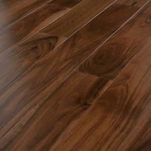 Supreme Click Hand Scraped 12mm Rustic Mountain Acacia Laminate Flooring