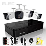 Elec® New 4CH 960H HDMI Mini CCTV DVR 4 In/Outdoor Surveillance Security Camera System CVK-HL04CP01W No HDD