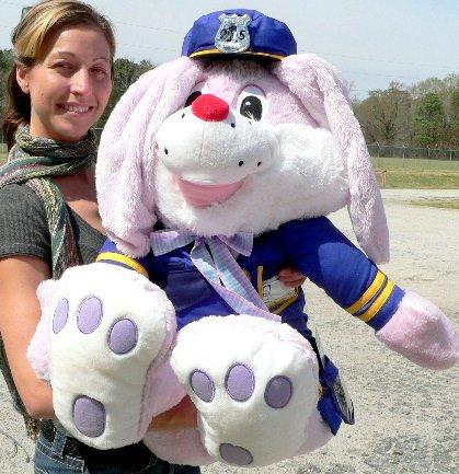 Big Plush Bunny Cop Police Officer