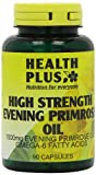 Health Plus High Strength Evening Primrose Oil 1000mg Omega-6 Supplement - 90 Capsules