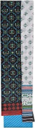 YR Traders Women's Cotton Straight Unstitched Dress Material (YR009, Black, Red & Blue, Free Size)