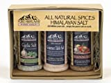 All Natural Himalayan Salt Gift Pack No MSG No Artificial Flavors Garlic Salt with Parsley (3 oz) Gourmet Table Salt (4 oz) Seasoning Salt (3.25 oz)