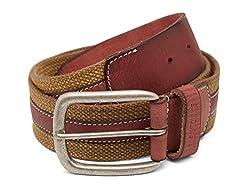 Breakbounce Men's Leather Belt (8907066080170_Large_Olive)