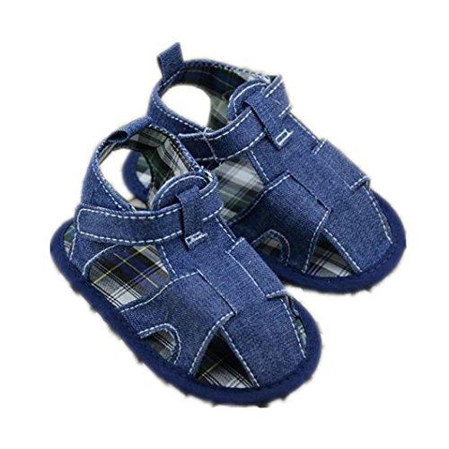 DZT1968® Baby Girl Boy Denim Soft Sole Prewalker Sandals Shoes (6~12 Months)